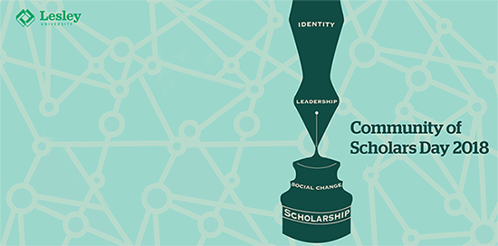 Cropped image of Community of Scholars Day logo from 2018