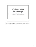 Collaborative Partnerships—Improving Teacher Retention