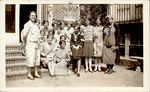 Intensive Sewing, 1929, Class Day, Mrs. Haskell [left], English Teacher, Mrs. Wolfard [right]