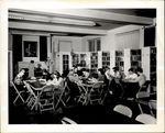Livingston Stebbins Library with Students