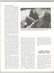 Page 6 of the July - August 1973 Current / John Lennon and Yoko Ono sitting by amphitheatre at Lesley College by Lesley College