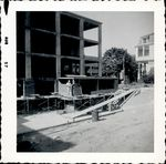 Worker during construction of Trentwell Mason White Hall