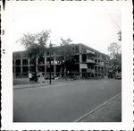 Street corner during construction of Trentwell Mason White Hall