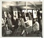 School of Practical Art Portraiture Class, circa 1945