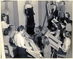 Fashion Illustration Class, circa 1950s by Lesley University