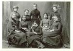 Edith Lesley with young friends in Bangor, Maine by Bangor Historical Society