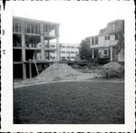 Lawn view of the construction of Trentwell Mason White Hall