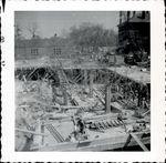 Construction of Trentwell Mason White Hall foundation 3