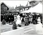 Walking Towards the Tent, Commencement ca. 1940s - 50s