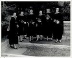 Graduates with Diplomas and Flowers, Commencement ca. 1940s - 50s