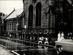 Graduating Students Walk, Commencement ca. 1940s - 50s