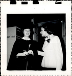 Graduates Standing Together, Commencement ca. 1940s - 50s