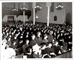 Graduates and Guests in the Pews, Commencement ca. 1960s