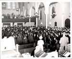 Graduating Students Welcomed into the Chapel, Commencement ca. 1960s