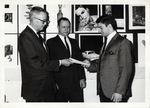 Student Receives an Award from Bill Willis and Harry Hablitz, ca. 1960s by Art Institute of Boston