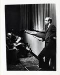 William Willis Jr. Speaking at AIB Freshman Orientation (1 of 2), ca. 1967 by Art Institute of Boston