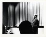 William Willis Jr. Speaking at AIB Freshman Orientation (2 of 2), ca. 1967 by Art Institute of Boston