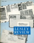 Lesley Review (Fall 1963) by Lesley College