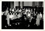 Choir Gathered around a Grand Piano, ca. 1940s - 50s