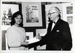 Frances Henderson Receiving an award from Mac Ivor Reddie by School of Practical Art