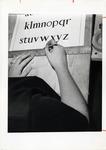 School of Practical Art student working on typography. 1950s by School of Practical Art