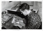 School of Practical Art student drafting a drawing, 1950s by School of Practical Art