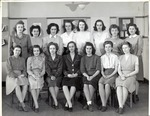 Female Students Pose for Group Portait by School of Practical Art
