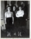 Group of Five People Pose for a Portrait by School of Practical Art