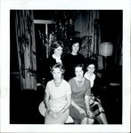 Five Women Seated Near the Christmas Tree, Student Life ca. 1950s