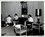 Setting up the TV, Student Life ca. 1950s