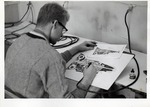 Student Works on a Technical Drawing C.1967 by Art Institute of Boston