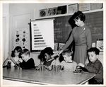 Children Building with Colored Blocks, Student Teaching ca. early 1960s