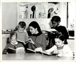 Teacher Reading Together with Her Students, Student Teaching ca. early 1960s