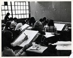 Classroom of Students Sketching by School of Practical Art