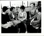 Five Students Sitting Near a Couch, Student Groups ca. 1950s - 60s