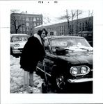 Shoveling out the Car, Student Candids ca. 1950s - 60s