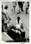 A Student and their Suitcases, Student Candids ca. 1950s - 60s