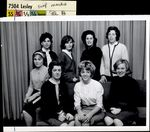 Eight Students in Front of a Curtain, Student Life ca. 1950s - 60s