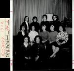 Eleven Students Gathered on Couches, Student Groups, ca. early 1960s
