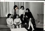 Six Students Laughing Together on a Couch, Student Groups, ca. early 1960s