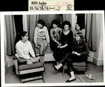 Six Students Spending Time Together in Grey Hall, Student Life ca. 1964