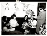 Five Students Working with Wrapping Paper, Student Life ca. 1966