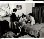 Three Students Near a Bed, Class of 1966 ca.1964