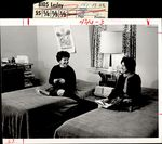 Two Seated on Opposite Beds, Student Life ca. 1964
