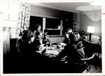 Seven Playing Cards in the White Hall Second Floor Lounge, Student Life ca. 1966