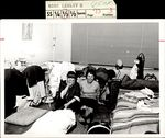 Two Students Laughing in the Clutter, Student Life ca. 1966