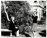 A Snapshot of a Student Being Photographed, Student Life ca. 1960s