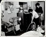 Vacuuming the Dorm Rugs, Student Life ca. 1964 by Paul Allard