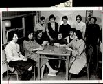 Eleven Students in a Card Game, Student Groups ca. 1964