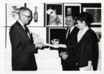 Caroline Albert Receives an Award from Bill Willis and Harry Habblitz by School of Practical Art
